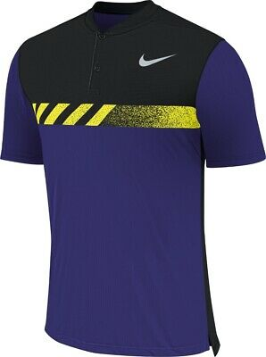 NIKE GOLF Dri-FIT MM Fly Framing Block Polo Shirt 885710-512 UK Size Large