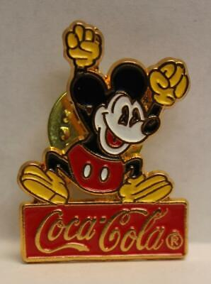 Disney Mickey Mouse with Raised Arms Coca Cola Pin