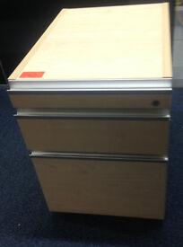 office pedestal filing cabinet Lensvelt with 3 drawers