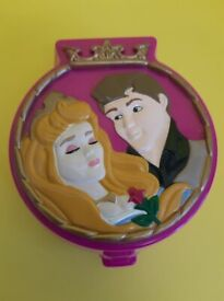 VINTAGE POLLY POCKET - SLEEPING BEAUTY - RARE COMPACT ONLY
