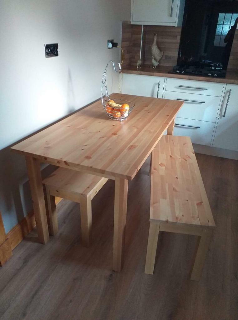 Argos kitchen table an bench's   in Harthill, North ...
