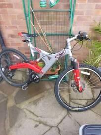 20.5 inch full suspension bike