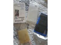Sony xz case screen protector and tempered screen protector and clear cover