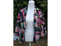 Ladies 'Gok' For TU Kimono Style Floral Print Jacket - Size 14