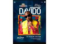 2 tickets Davido 30 Billion Tour