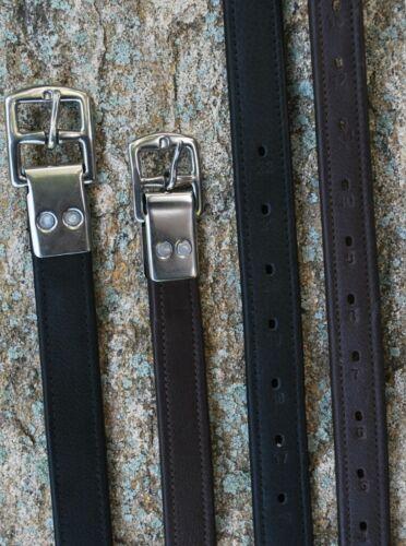 KL Select Black Oak Calf Lined Riveted Stirrup Leathers