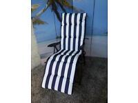 New Portland Cushioned Relaxer Garden Chair