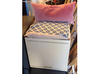 storage vintage box seat stool ottoman with a drawer sofa