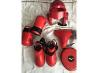 Taekwondo sparring equipment & suit