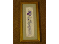 Floral Theme Wood Framed Art Picture Print Vintage - Art Market Ltd, Sarah Malin