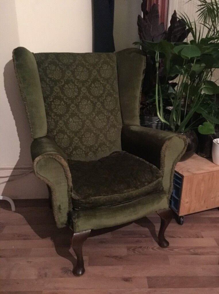 Green Vintage Armchair
