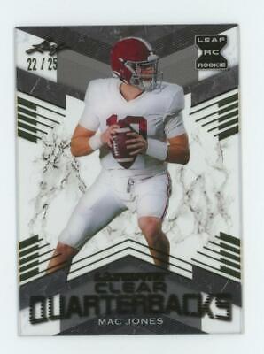 2021 Leaf Ultimate Clear Quarterbacks Gold Mac Jones 22/25 RC Rookie