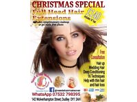 Full Head Hair Extensions Christmas Package £140 includes hair & Makeup
