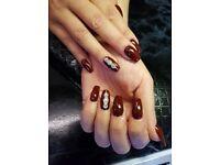 Uv gel ,acrylics nails and russian extension eyelashes