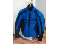 Motorcycle Jacket, Mens M, Frank Thomas Aqua Pore, blue/black