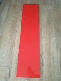 IKEA Lack Floating Wall Shelf Chunky Red