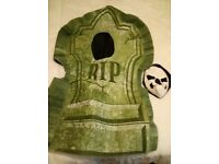 """Gravestone 3d halloween costume 43"""". Cost £30! I have other costumes and mask for sale."""