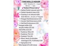 Beauty Therapist / Nail Technician (massage facial spray tan gel acrylic polygel extensions salon )