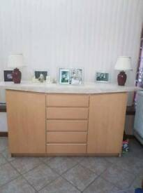Marble Top & Wooden Base Unit