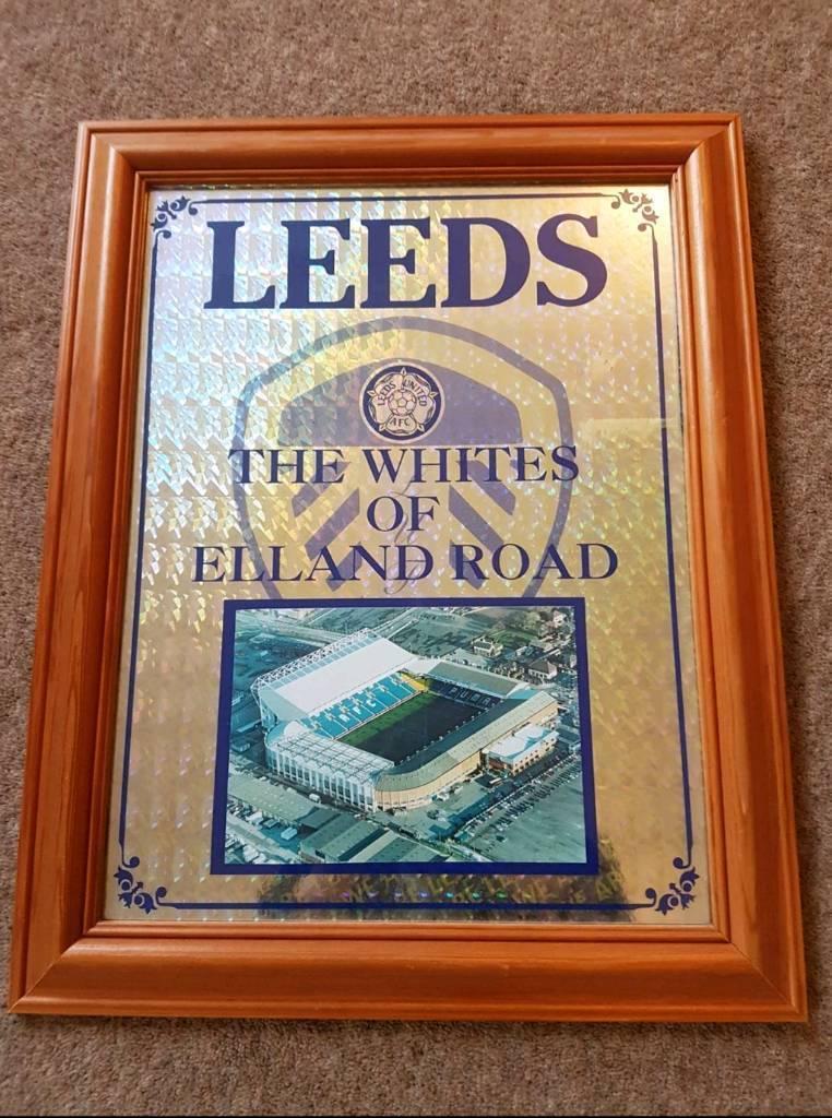 Retro Leeds United framed wall art poster.