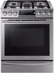 Cuisinière au gaz encastrable de 5,8 pi³ en acier inoxidable Samsung ( NX58H9500WS )