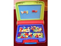 ELC magnetic playcentre with magnetic letters and numbers