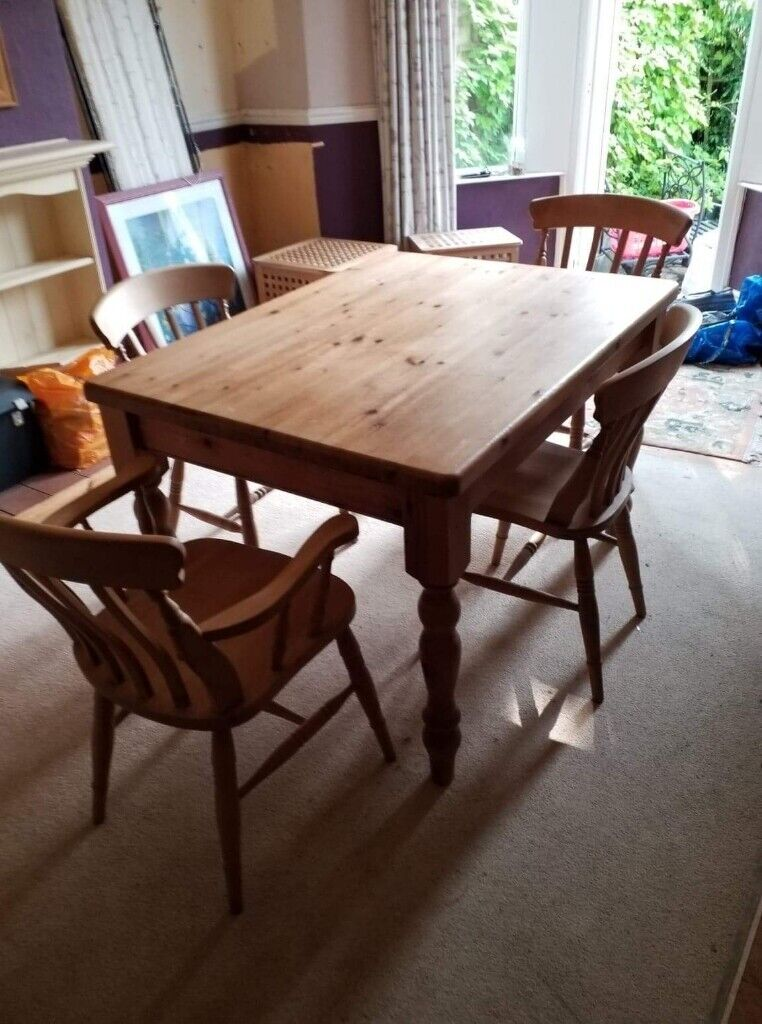 Pine Dining Table And 4 Chairs In Penylan Cardiff Gumtree