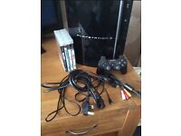 PlayStation 3(80GB) 4 Games and 1 Controller