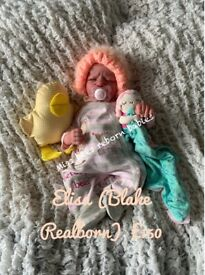 Elisa Realborn Reborn doll - made from a Blake kit