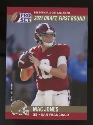 2021 Pro Set XRC 1990 SP Variation Error Mac Jones 49ers RC Rookie
