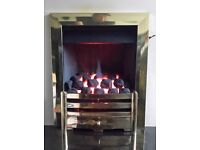 Global Arana 4.0 kw Slider Control Coal Effect Inset Gas Fire ( Brass )