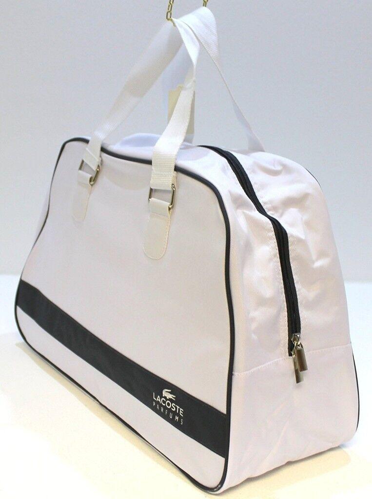 ae02f7cbd8215b High quality - White Lacoste Sports Gym Travel and Beach Bag Men ...