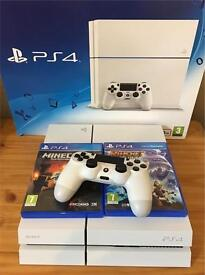 PS4 500GB with couple of games and microphone in mint condition like new for sale!!