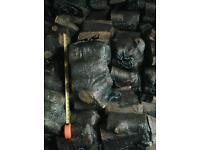 Seasoned logs in net sacks, 100 bags for £100