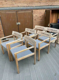 Quality John Lewis Garden Chairs x 6 Good Condition Delivery Possible