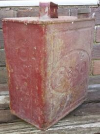 Vintage ESSO Petrol Can in red 1940's