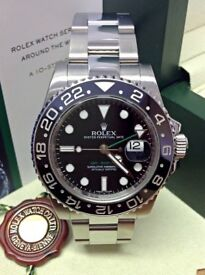 Rolex GMT-MASTER II 116710 Steel Black Ceramic Bezel PAPERS *MINT CONDITION*