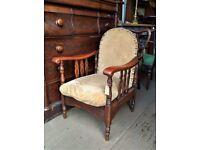 Antique Oak Reclining Armchair