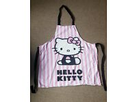 Hello Kitty apron and chef hat