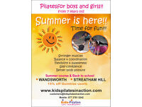 Summer Classes Pilates for Kids -Wandsworth - Fun and health