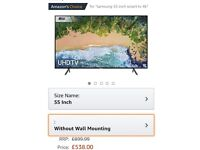 Samsung tv 4k ultra hd, HDR, 55 inch