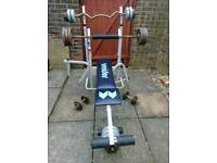 Gym Bench and Weight 95kg