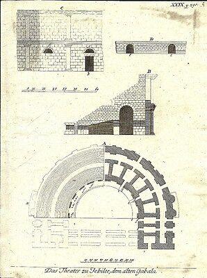 Antique engraving, Gabala P XXIX