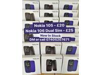 NOKIA 105 & NOKIA 106 DUAL SIM BRAND NEW