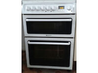 Hotpoint Double Oven & Hob Electric. Fan oven& oven/grill & ceramic hob. White, clean. Used daily.