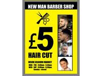 Only £5 Haircut. Barber shop