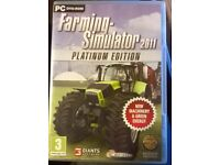 For sale 1x Farming Simulator 2011 Platinum Edition for PC game. (2 available)