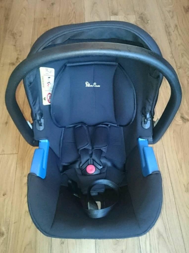 Silvercross car seat with footmuff