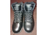 NEW Black Karrimor Leather Walking Boots - Size 5