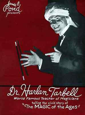 Tarbell A4 Photo Print Magic Magician Vintage